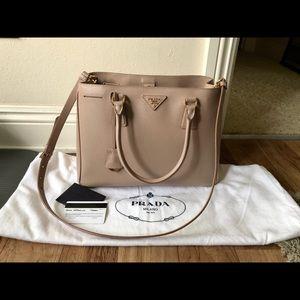 Prada Gardener's Saffiano Blush Cameo Bag